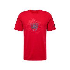ADIDAS PERFORMANCE Funkčné tričko 'D.O.N. Issue #2 Sense'  námornícka modrá / ohnivo červená