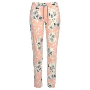 LASCANA Pyžamové nohavice  sivá / staroružová / prírodná biela