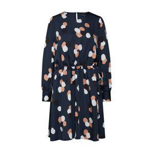 SELECTED FEMME Košeľové šaty 'SLFFOYLA'  béžová / námornícka modrá
