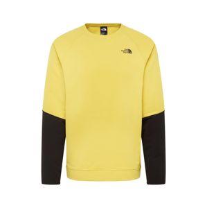 THE NORTH FACE Športová mikina  čierna / žltá