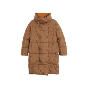 MANGO Zimný kabát 'Eddie-S'  hnedá / koňaková