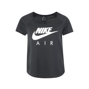 NIKE Funkčné tričko 'W NK AIR SS TOP MESH'  čierna / biela