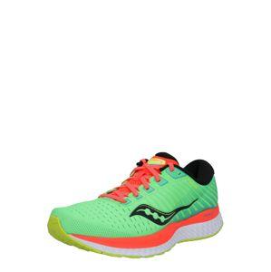saucony Bežecká obuv 'Guide 13'  čierna / biela / neónovo zelená / neónovo oranžová