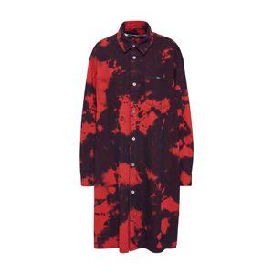 McQ Alexander McQueen Košeľové šaty 'Tatsuko Shirtdress'  červené