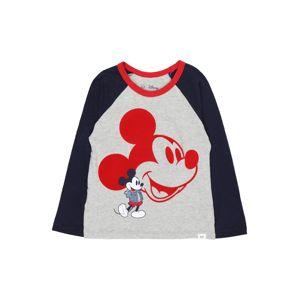 GAP Tričko  sivá melírovaná / tmavomodrá / červená / biela