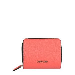 Calvin Klein Peňaženka 'SIDED ZIPAROUND MD W FLAP'  koralová