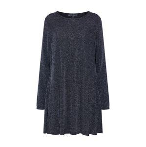 Mela London Šaty 'SHIMMER LONG SLEEVE TUNIC DRESS'  čierna / strieborná
