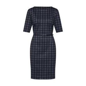 Esprit Collection Puzdrové šaty 'NOOS Belt Dress'  antracitová / čierna