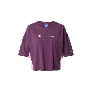Champion Authentic Athletic Apparel Tričko  tmavofialová / svetlofialová / biela
