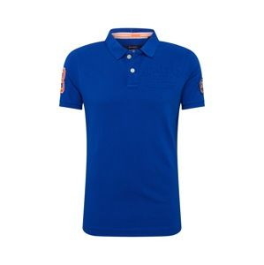 Superdry Tričko 'Classic Superstate Pique Polo'  kobaltovomodrá
