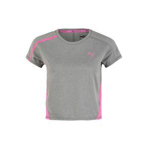 PUMA Funkčné tričko 'Train Panel'  sivá / neónovo ružová
