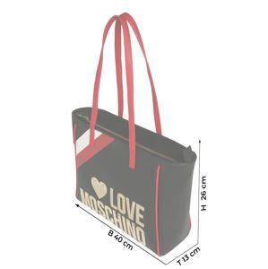 Love Moschino Tasche 'BORSA PEBBLE'  červené / čierna