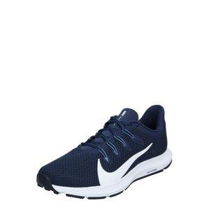 NIKE Bežecká obuv 'QUEST 2'  biela / námornícka modrá