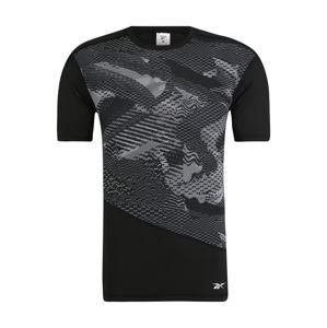 REEBOK Funkčné tričko 'TS SS Comp Tee - AO'  sivá / čierna