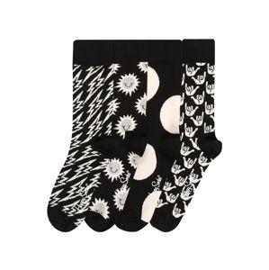 Happy Socks Ponožky 'Black And White'  biela / čierna