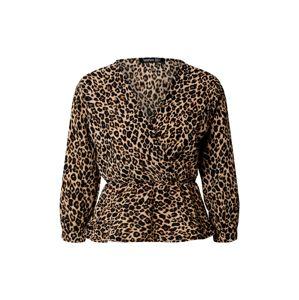 Boohoo Blúzka 'Leopard'  čierna / hnedé