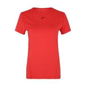 NIKE Funkčné tričko 'W NP TOP SS ALL OVER MESH'  červené