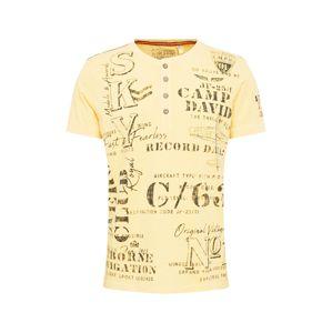 CAMP DAVID Tričko  žlté / zmiešané farby