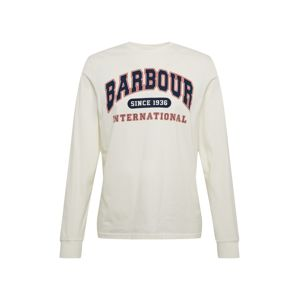 Barbour International Tričko 'B.Intl Collegiate LS T'  biela