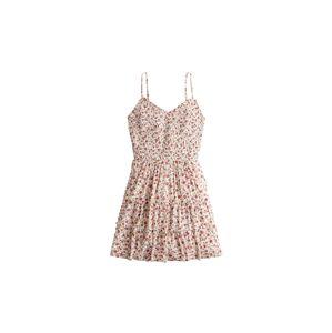HOLLISTER Letné šaty  biela / červená
