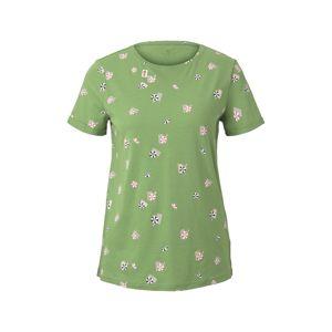TOM TAILOR Tričko  zelená ako tráva