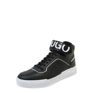 HUGO Členkové tenisky 'Symmetric High'  čierna / biela