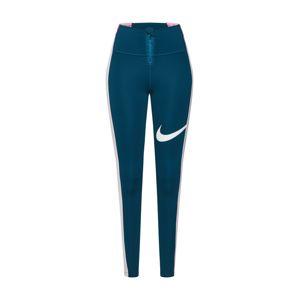 NIKE Športové nohavice 'Power'  biela / tmavomodrá / ružová