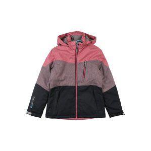 KILLTEC Outdoorová bunda 'Jadira Jr'  slivková / ružová