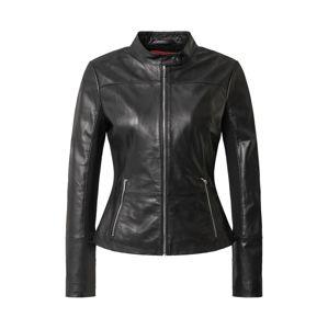 HUGO Prechodná bunda 'Lilova'  čierna