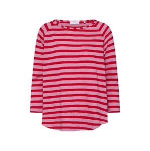 Rich & Royal Tričko 'Heavy Jersey Longsleeve striped'  červené