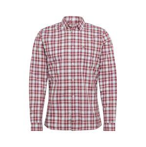 Tommy Jeans Biznis košeľa 'TJM ESSENTIAL CHECK POCKET SHIRT'  biela / červená