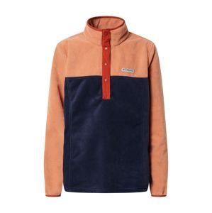 COLUMBIA Športový sveter 'Benton Springs™'  námornícka modrá / pastelovo oranžová