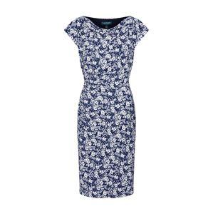 Lauren Ralph Lauren Puzdrové šaty 'THEONA'  biela / námornícka modrá