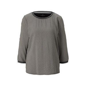 TOM TAILOR Tričko  čierna / sivá
