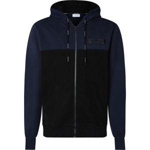 Calvin Klein Tepláková bunda  modrá / čierna