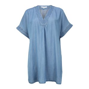 ONLY Carmakoma Šaty 'CARFIEKE LIFE SS DENIM TUNIC DRESS'  modrá denim