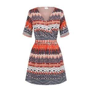 VILA Letné šaty 'VISANDRO'  oranžová / čierna