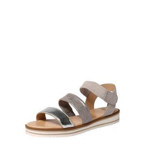 ARA Remienkové sandále 'Durban'  striebornošedá / tmavošedá