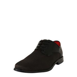 bugatti Šnurovacie topánky 'Lucas'  čierna