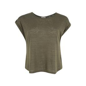ABOUT YOU Curvy Tričko 'Kaili Shirt'  zelená / kaki / tmavozelená