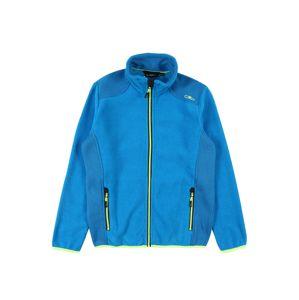 CMP Funkčná flisová bunda  modrá / neónovo zelená