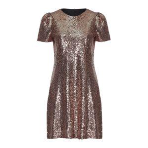 Mela London Šaty 'SEQUIN PUFF SLEEVE DRESS'  zlatá