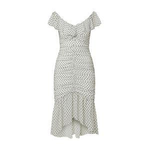 Miss Selfridge Kokteilové šaty  biela / čierna