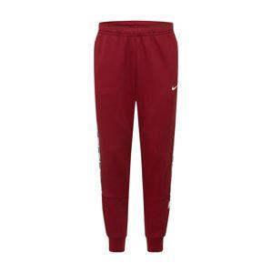 Nike Sportswear Nohavice 'Repeat'  biela / krvavo červená / sivá / čierna