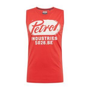 Petrol Industries Tričko  červené / biela