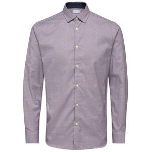 SELECTED HOMME Košeľa  červeno-fialová / biela