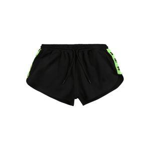 HIIT Športové nohavice  čierna / neónovozelená