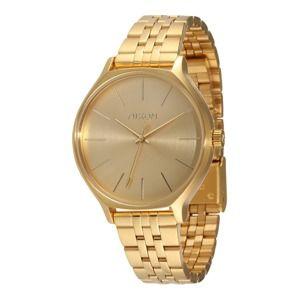 Nixon Analógové hodinky 'Clique'  zlatá