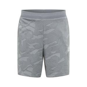 ADIDAS PERFORMANCE Športové nohavice  biela / sivá melírovaná / svetlosivá