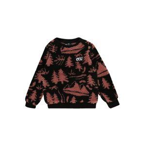 Picture Organic Clothing Športový sveter 'Away Crew'  hrdzavo červená / čierna